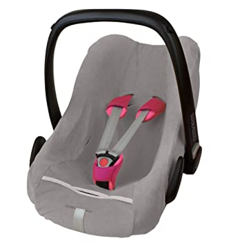 ByBoom® - Frottee Sommerbezug, Schonbezug für Babyschale, Autositz, z.B. Maxi Cosi CabrioFix, City, Pebble; Designed in Germa
