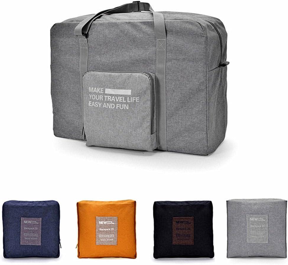 CAREMORE Unisex s Lightweight Foldable Waterproof Duffel Travel Bag Luggage Bag Large Capacity Brown