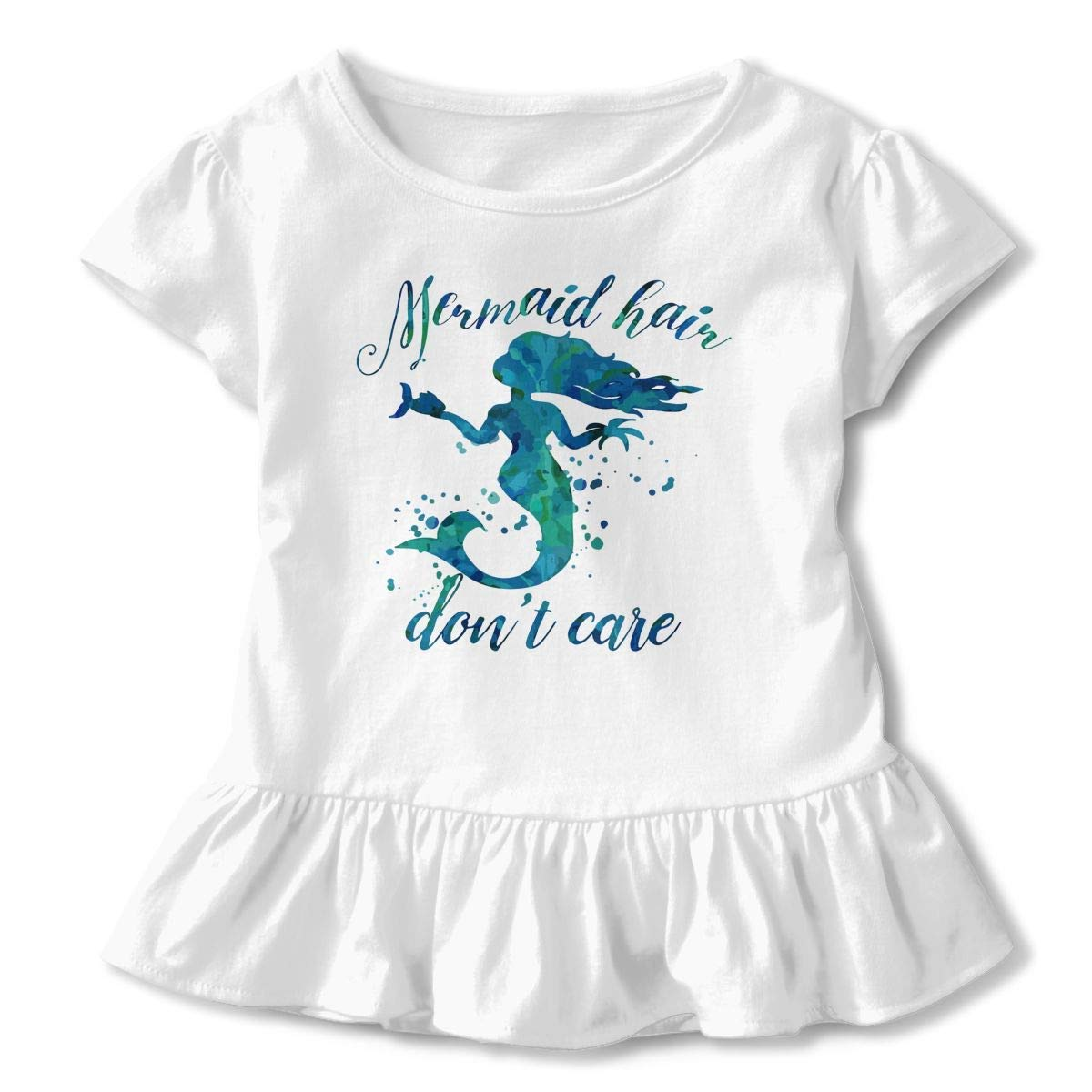 lu fangfangc Mermaid Hair Dont Care Girls Short-Sleeve Tunic Peplum Blouse Shirt