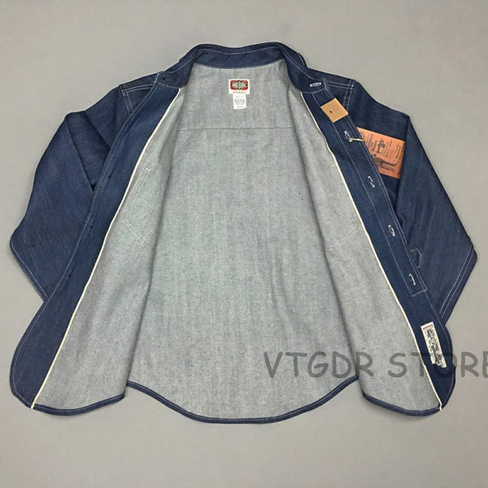 VTGDR Vintage 30s-40s Selvedge Work Shirt for Men