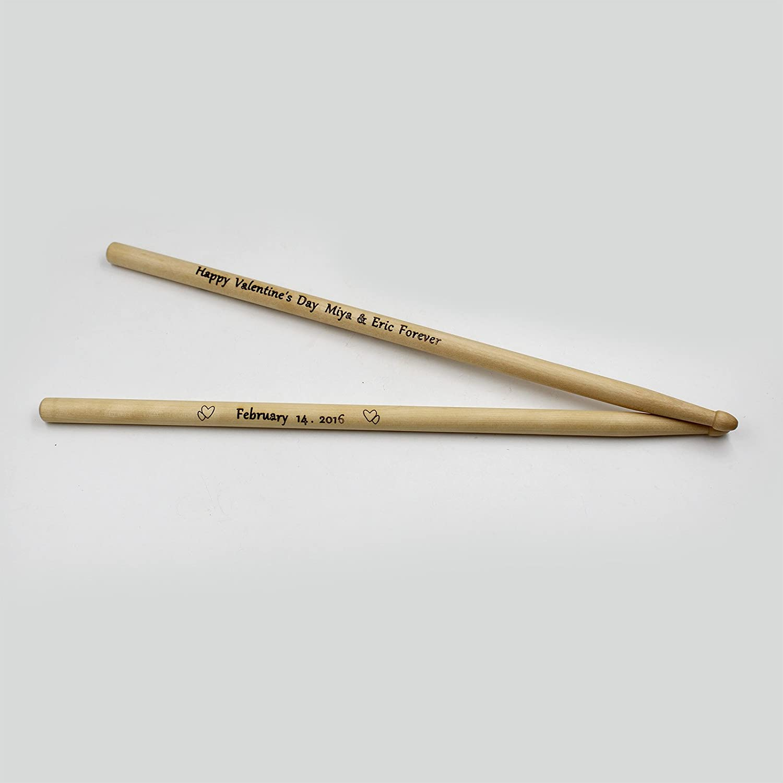 Personalized Engraved Drumsticks Wooden Drumsticks Gift for Drummer PangPong