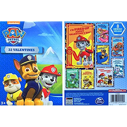 Paw Patrol 32 Valentines 2016 Children's Valentines Day Cards Edition 8 Heroic Designs Sales