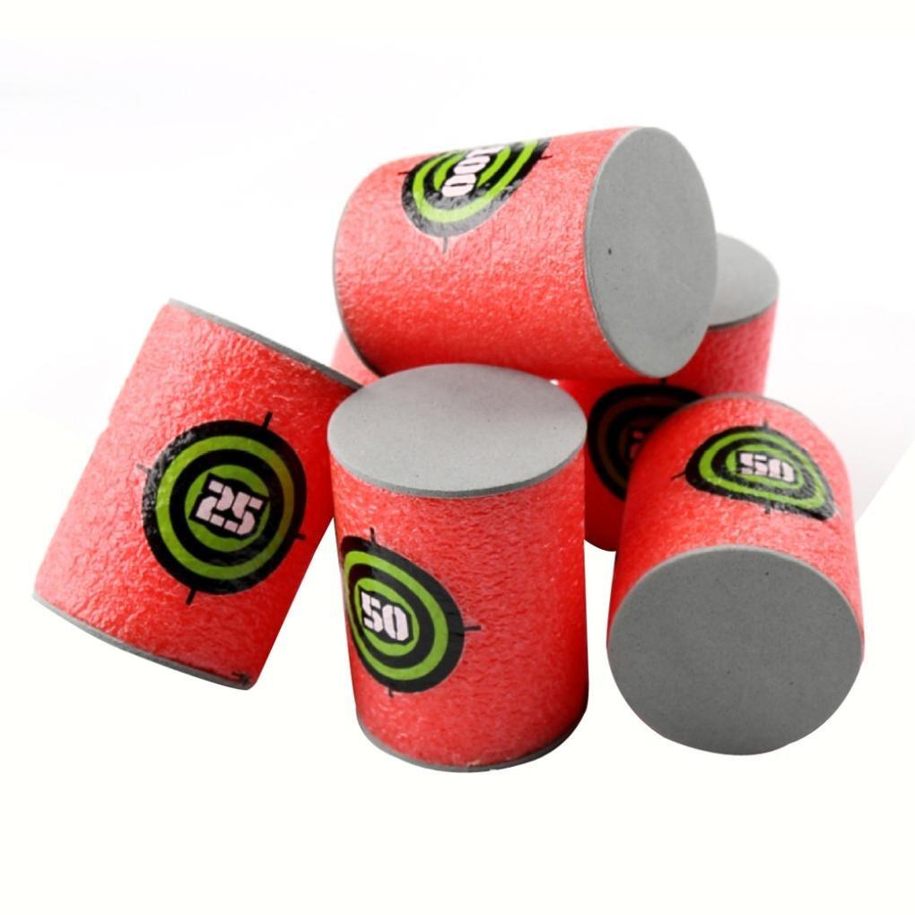 Education Toy,Jinjin EVA Soft Bullet Target for NERF N-Strike Blasters Pack of 12pcs (red)