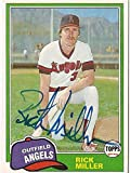 RICK MILLER ANAHEIM ANGELS AUTOGRAPHED SIGNED 1981 TOPPS #239 CARD COA