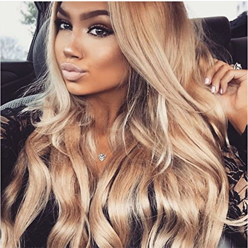 Amazon Com Ombre Honey Blonde Lace Front Wig Brazilian Human Hair
