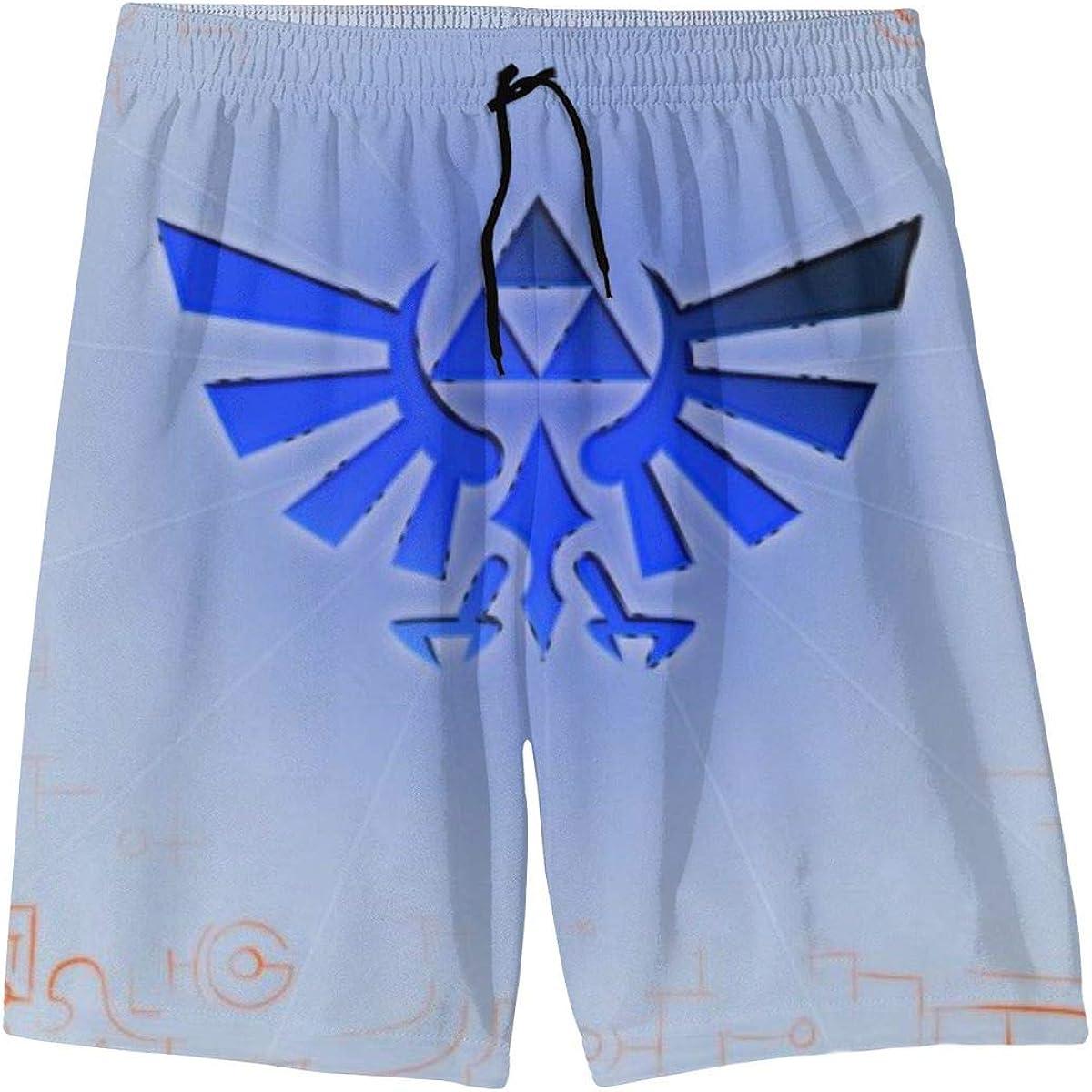 LIFUQING The Legend of Zelda Teenager Shorts Boy and Girl Swimming Shorts Mesh Lined Beach Pants