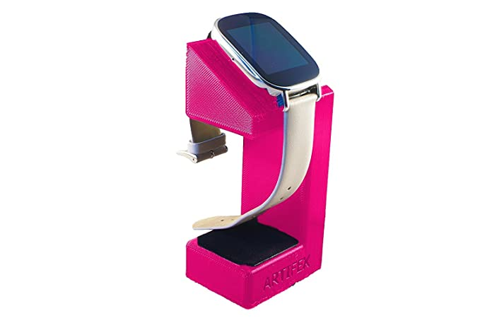 ASUS ZenWatch 2 Stand, Artifex Charging Dock Stand for ZenWatch2, New 3D Printed Technology, Smartwatch Cradle (Pink)