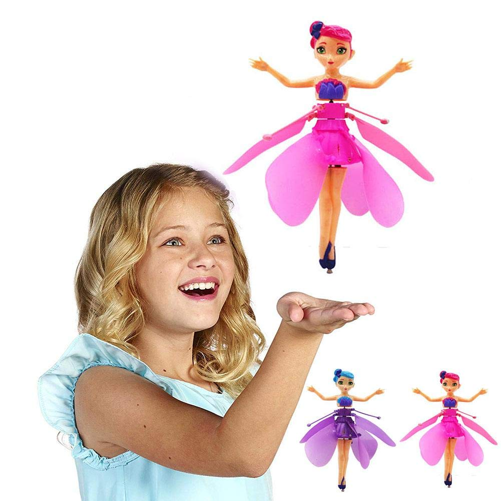 Fliegende Fee Flying Fairy RC Fliegende Fee Puppe mit Infraroterkennung Schwimmendem Licht Ferngesteuertes Spielzeug f/ür Kinder Geburtstag Weihnachten Geschenk