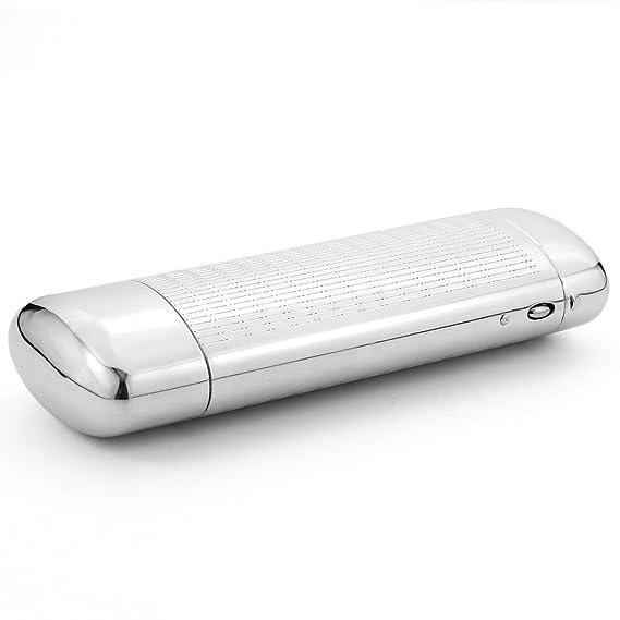 EZESO Estuche para gafas Funda Aluminio Plata