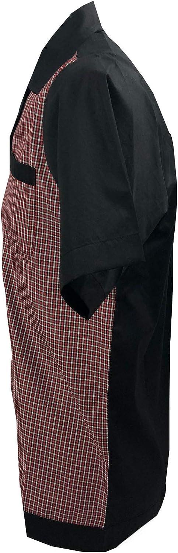 Rockabilly Fashions - Camisa informal para hombre, talla S a 3XL, diseño retro de los años 50, color negro, rojo y blanco: Amazon.es: Ropa y accesorios