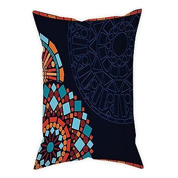 Amazon.com: iPrint - Funda de cojín de lino y algodón para ...
