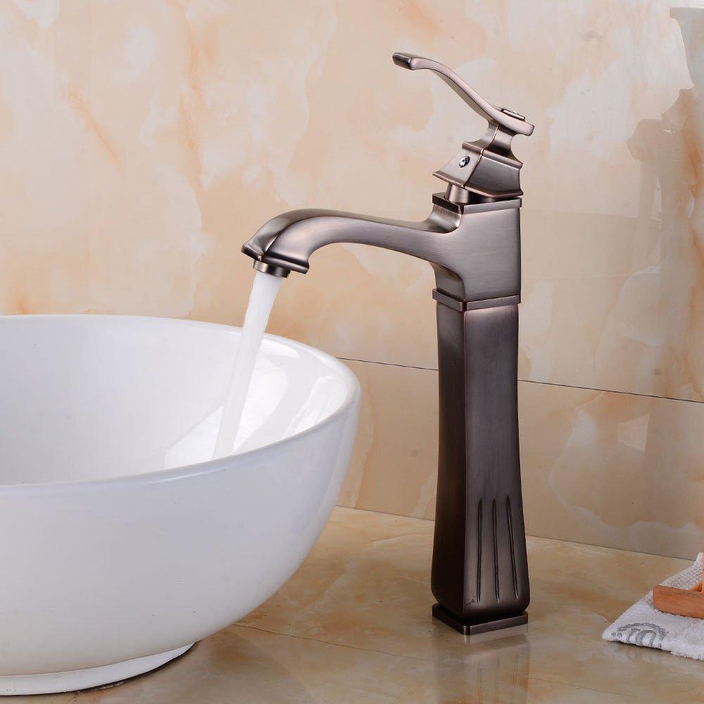 AQiMM Waschtischarmatur Wasserhahn Antique-Brass Warmes Und Kaltes Wasser  Mischbatterie Waschbeckenarmatur Für Badezimmer Waschbecken