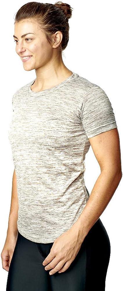 Damen Fitness T-Shirt Damen hell gebogenem Sport Top Fitnessstudio Jogging Yoga T-Shirt 8-20