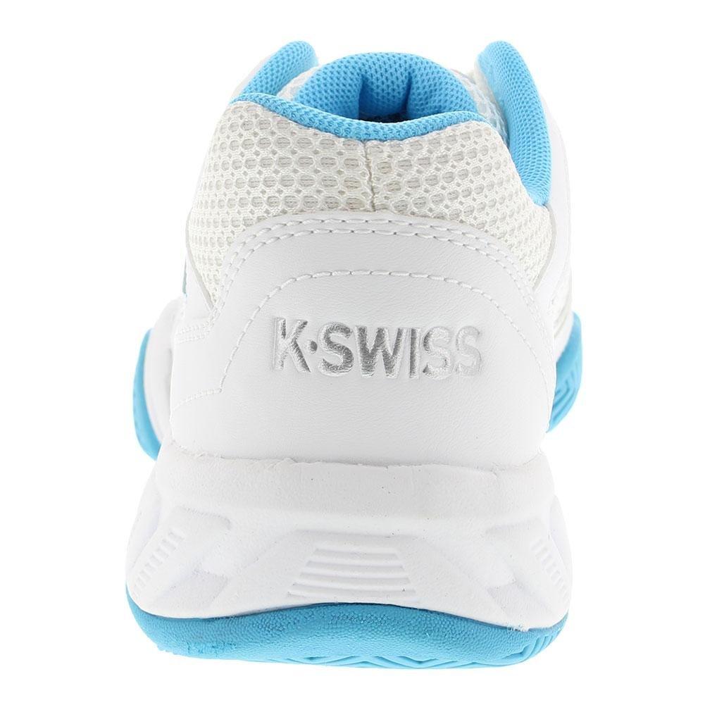 K-Swiss Bigshot Light 3 Womens Tennis Shoe B07BH3KB2R 8 B(M) US|White/Aquarius/Silver