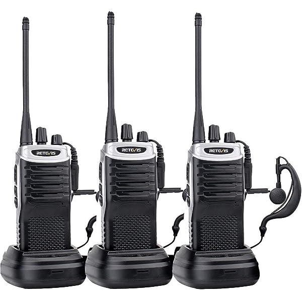 2 x Retevis RT7 Walkie-Talkie UHF 400-470MHz 16CH 5W CTCSS//DCS 2Way Radio US VOX