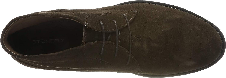 Stonefly Carnaby Velour, Stivali Chukka Uomo Marrone Fern Brown 410