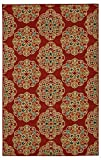 Mohawk Home Soho Kolam Red Medallion Printed Area Rug, 7'6×10′, Red Review