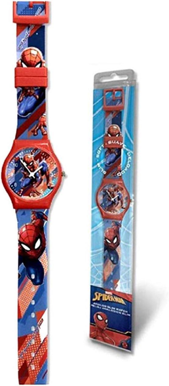 Spiderman Reloj analogico Slim New Pack Pulsera, Adultos Unisex, Multicolor, Unico