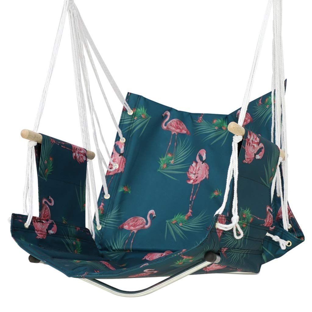 Jx Single Chair Indoor Adult Swing Male and Female Lazy Swing Hammock (Color : Flamingo Blue)