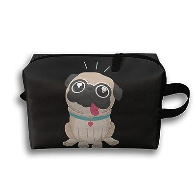 I Love Pug Unisex Fashion Travel Bag Portable Toiletry Bag Organizer Storage