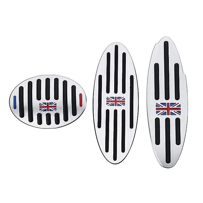 AAlamor Footrest Gas Freno Embrague Pedal Pad Fundas para BMW Mini Cooper Jcw S - 2Pcs: Amazon.es: Coche y moto