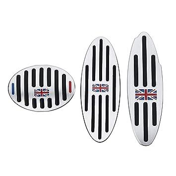 AAlamor Footrest Gas Freno Embrague Pedal Pad Fundas para BMW Mini Cooper Jcw S - 3Pcs: Amazon.es: Coche y moto
