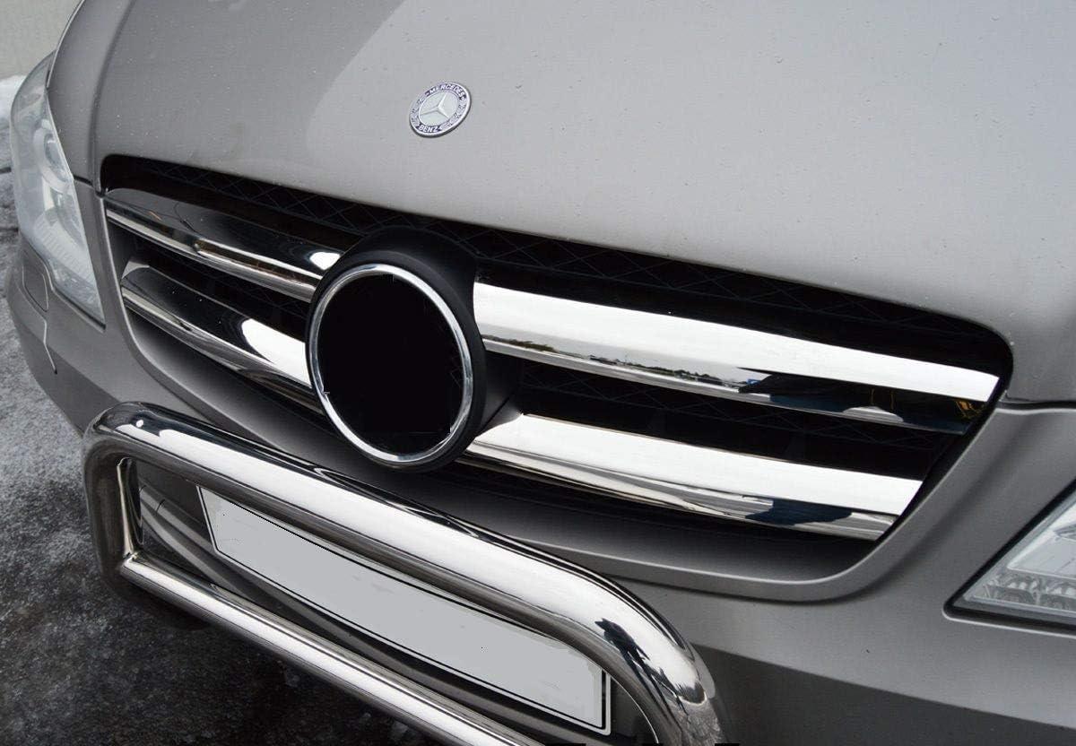 Chromeline Passend Für Mercedes Vito W639 Viano W639 Zwischen 2010 2014 Chrom Zierleisten 4 Stück Glänzender Edelstahl Auto