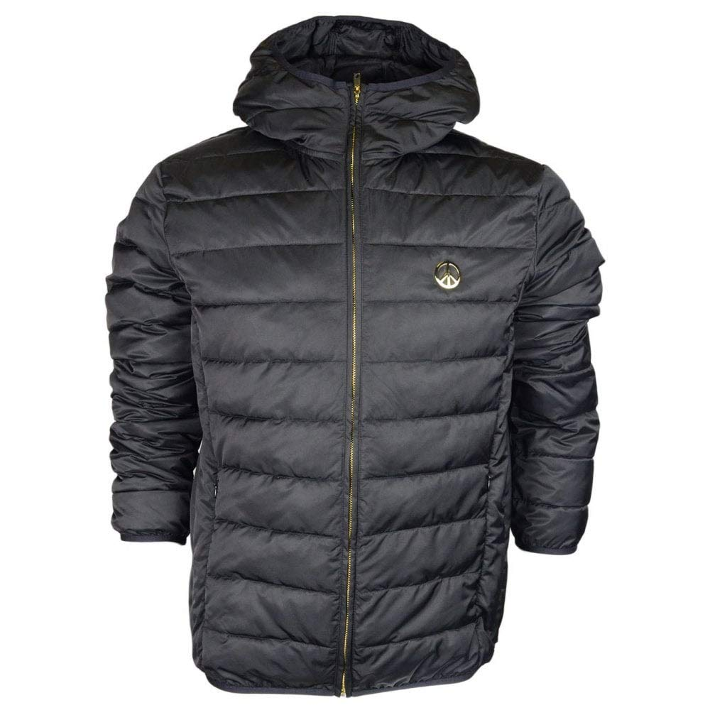 MOSCHINO Polyester Light Puffer Hooded Black Jacket 50 Black