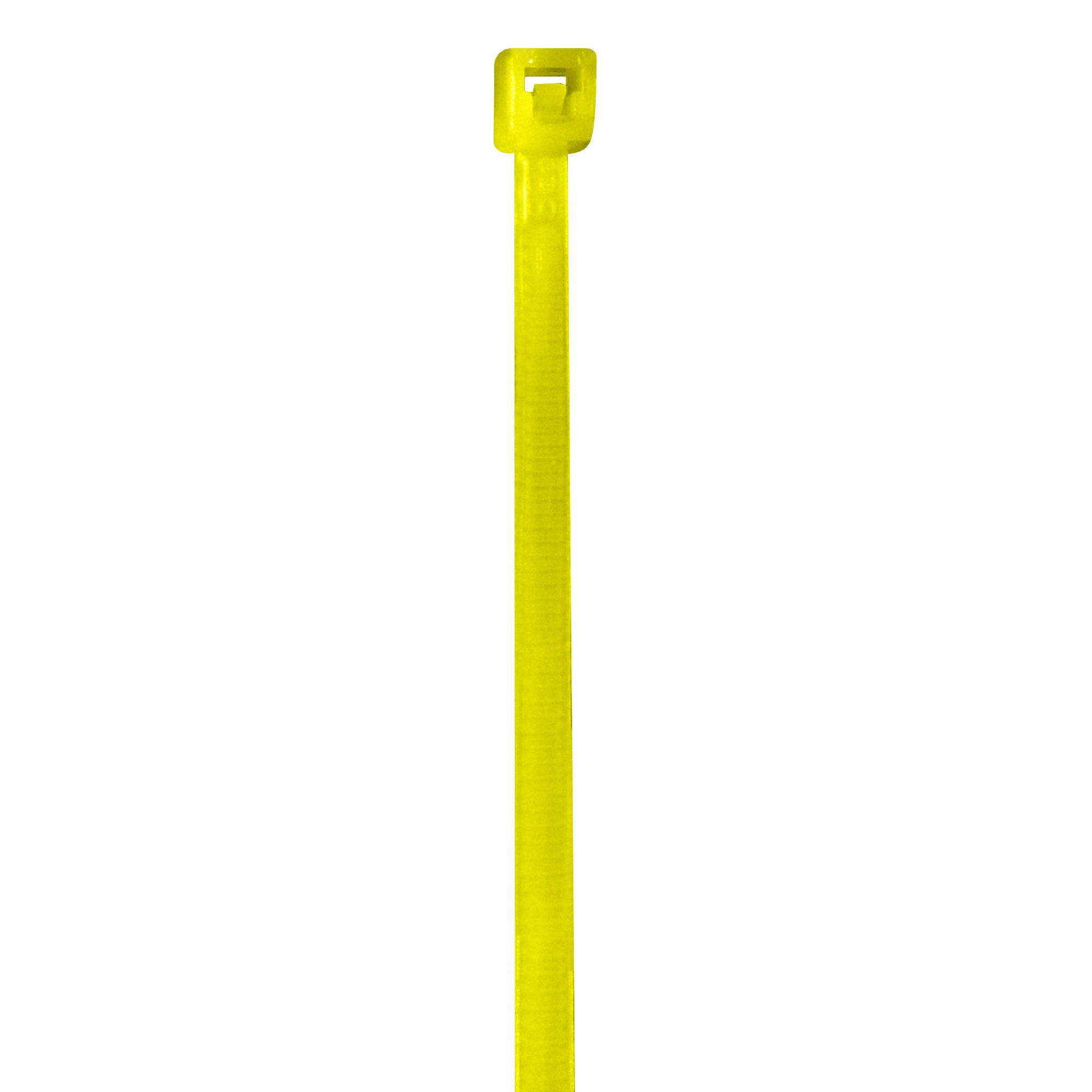 BOX USA BCT422C Colored Cable Ties, 18#, 4'', Yellow (Pack of 1000)