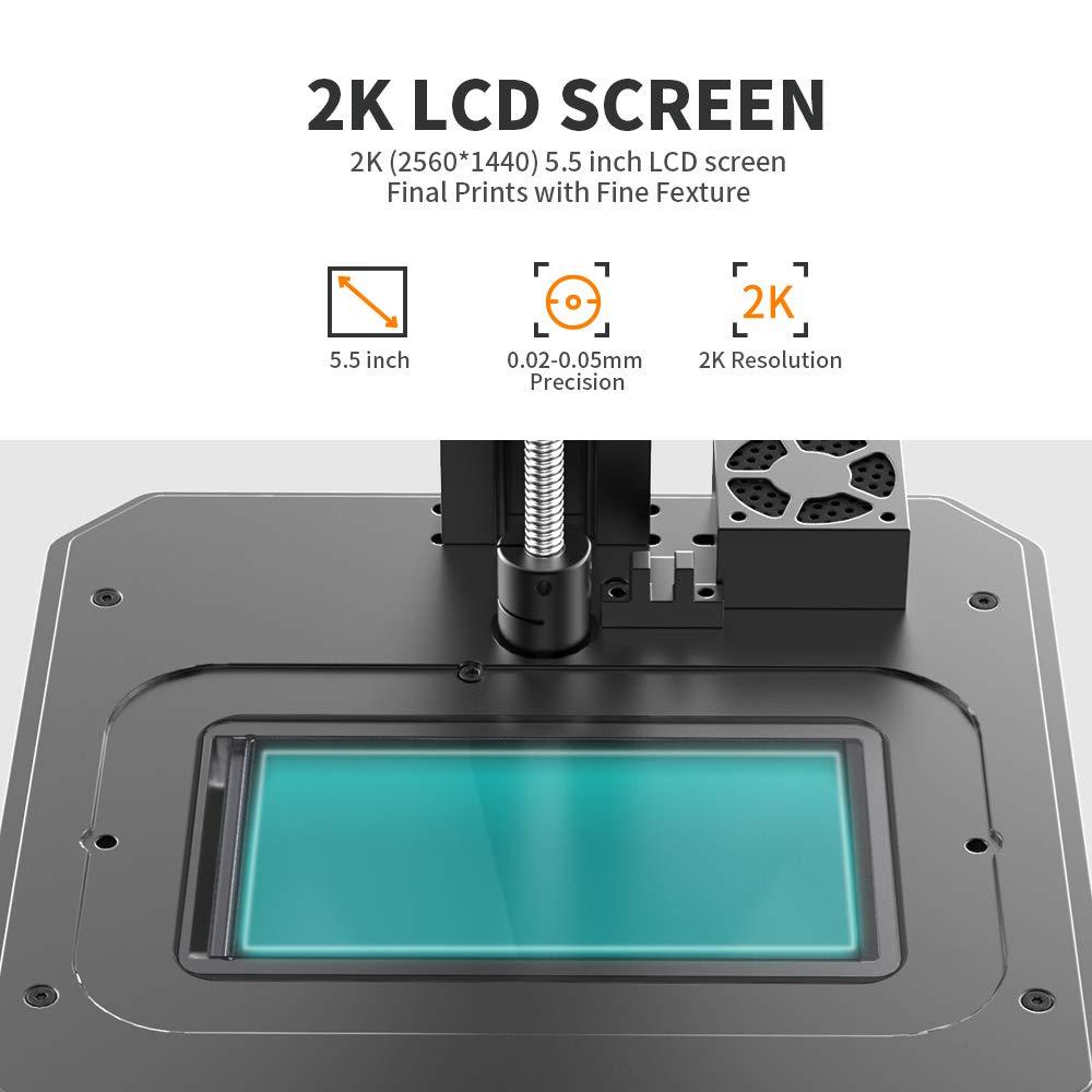 x 6,29 cm Dimensioni di stampa Creality LD002R lunghezza larghezza Stampante 3D fotocurante UV con sistema di filtraggio dellaria e schermo a colori Smart Touch da 3,5 altezza x 2,54 cm