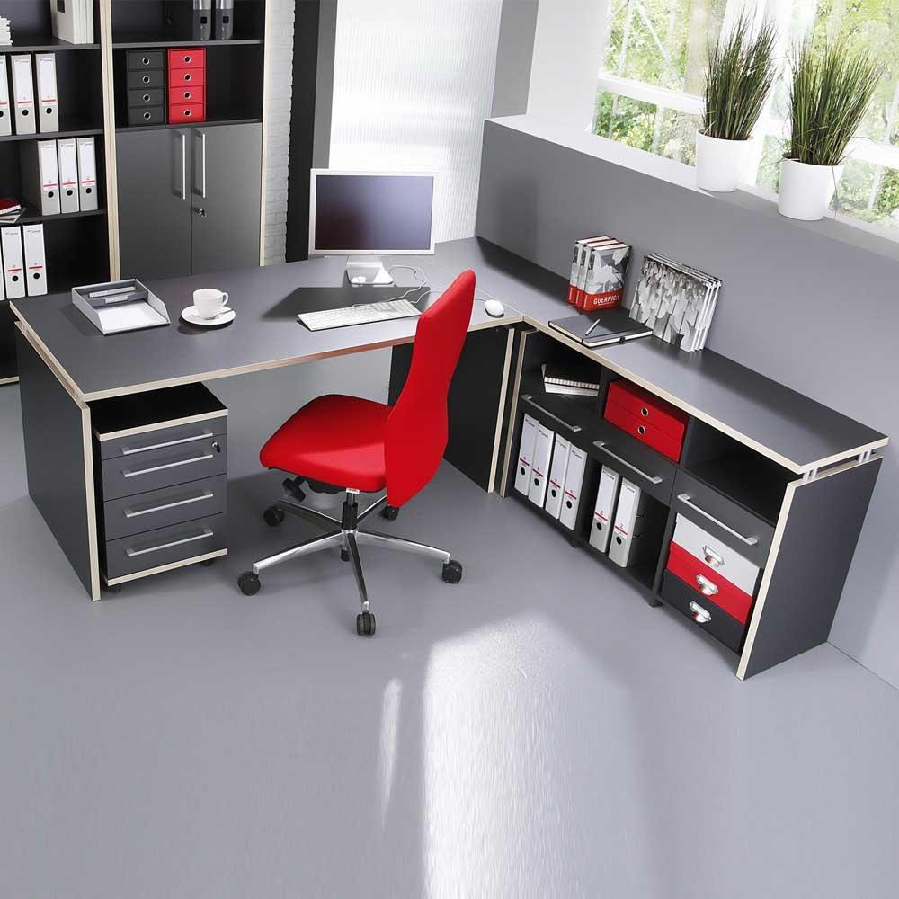Amazon.de: Büromöbel Schreibtisch anthrazit Mongo Pharao24
