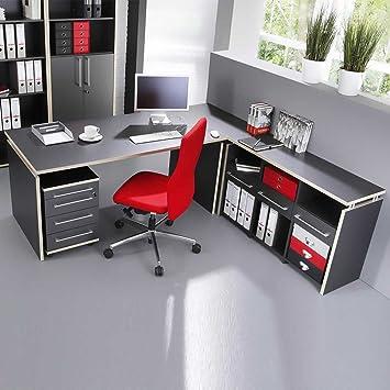 Schreibtisch büromöbel  Büromöbel Schreibtisch anthrazit Mongo Pharao24: Amazon.de: Küche ...