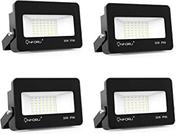 Onforu 35W Foco LED Exterior (4 Pack), 3000LM Super Potente ...