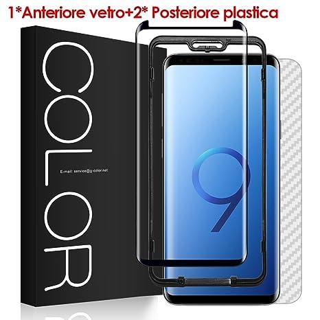 Pellicola Vetro Galaxy S9+/Plus, G-Color Pellicola [3D Vetro ...