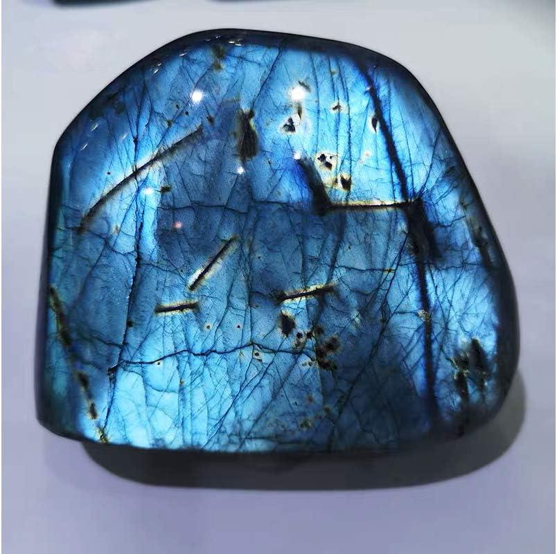 30g Natural Labradorite Moonstone Stone Bat Carving Quartz Crystal Healing Gift