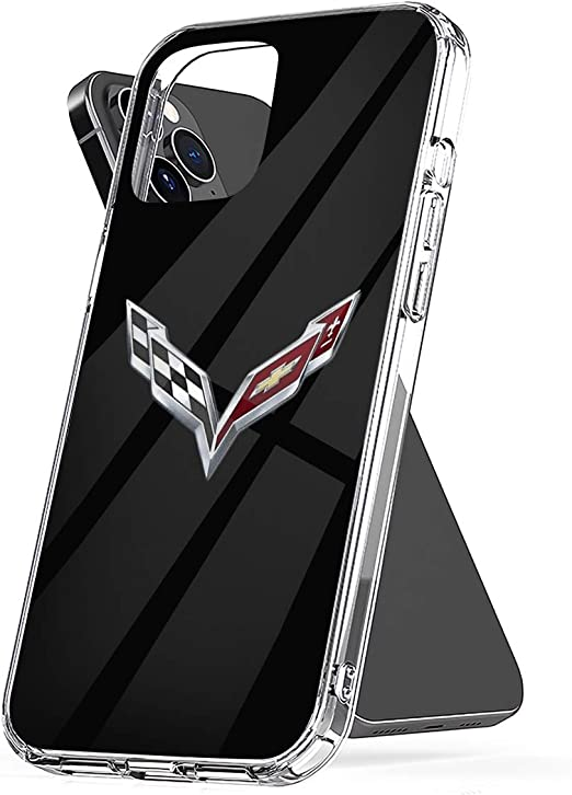Phone Case Corvette Logo 2 Compatible with iPhone 6 6s 7 8 X XS XR 11 Pro Max SE 2020 Samsung Galaxy Tested Anti