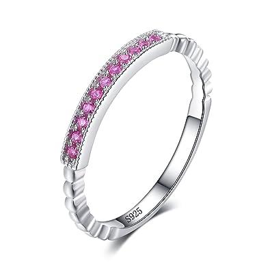 JewelryPalace Mujeres Infinity Love Cubic Zirconia anillo de bodas plata de ley 925 Tamaño 11