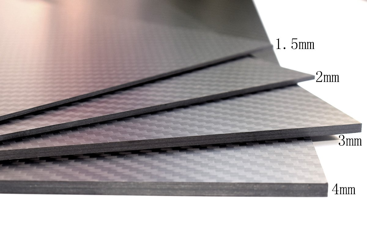 cncarbonfiber 2.0mm 200x300mm 100% Carbon Fiber Sheet Laminate Plate Panel 3K Twill Matte Finish by cncarbonfiber