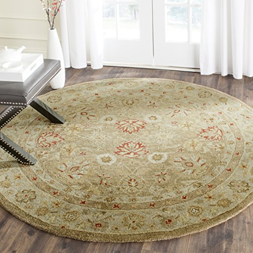 Safavieh Antiquities Collection AT822B Handmade Traditional Oriental Brown and Beige Wool Round Area Rug (3'6