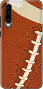 Stylizedd Huawei P30, Slim Snap Basic Case Cover Matte Finish - Rugby Ball