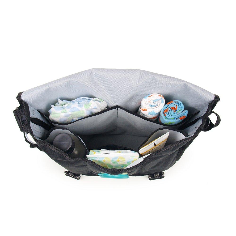 28095cc03f Amazon.com   DadGear Courier Diaper Bag - Red Retro Stripe   Diaper Tote  Bags   Baby