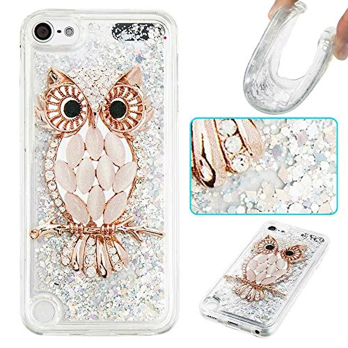 iPod Touch 5 / TOUCH 6 TPU Liquid Case,Creative Printed Design Dynamic Liquid Floating Quicksand Bling Sparkle Glitter Soft TPU Back Cover for Apple iPod Touch 5 / Touch 6