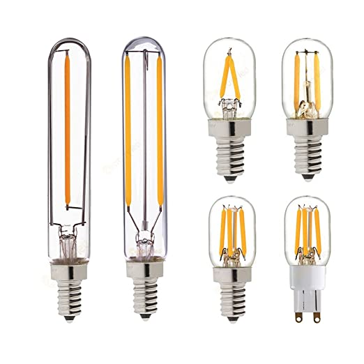 (5 piezas) T20 Refrigerador LED BOMBILLA DE FILAMENTO,1W, 2W,G9