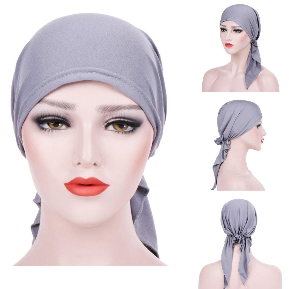Trenton Bella Scarf Chemo Hat Turban Head Scarves Pre-Tied Headwear Bandana Tichel for Cancer (Black) by TRENTON (Image #4)