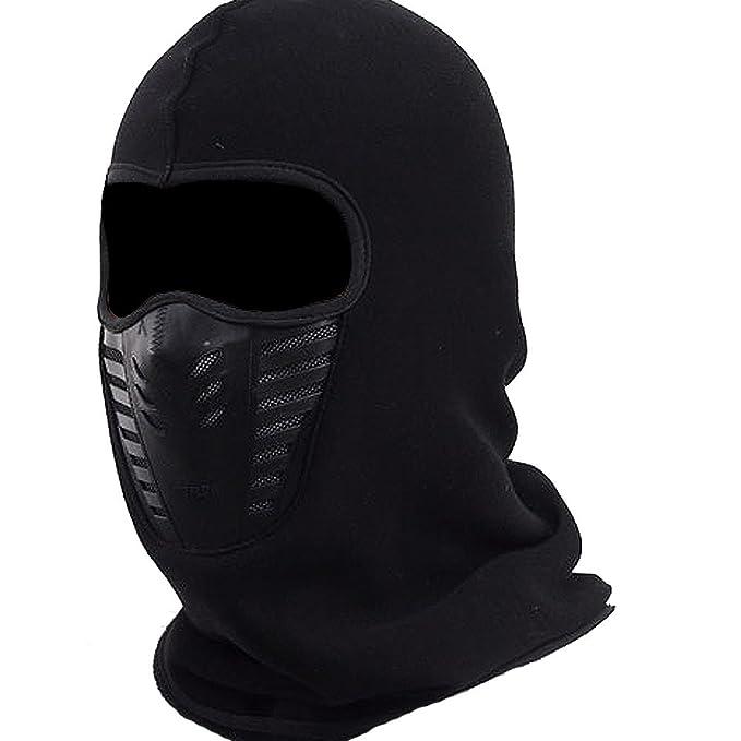 Amazon.com: Para hombre máscara de pasamontañas, forro polar ...