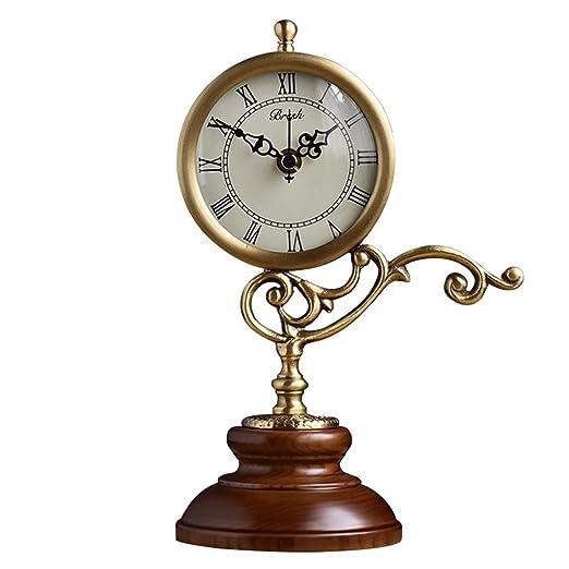 KXBYMX Reloj de Mesa Reloj, Sala de Estar/Dormitorio/Escritorio ...