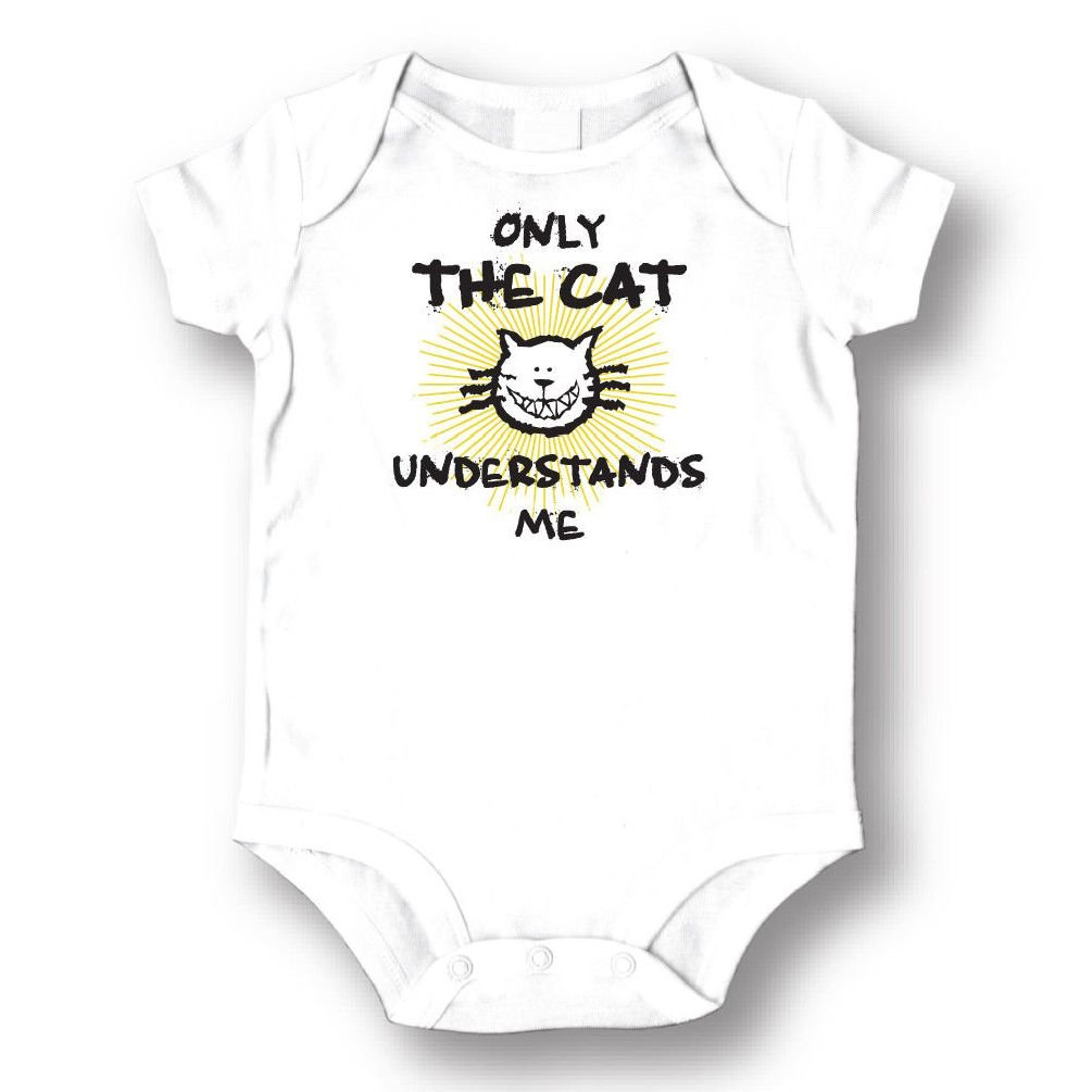 Dustin clothing series Only The Cat UNDERSTANDS Me Baby Boys Girls Toddlers Funny Romper 0-24M