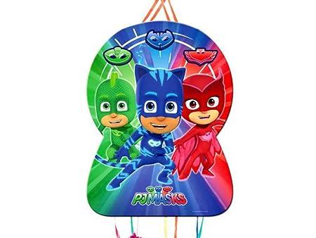 Set de 2 Piñatas Pjmasks para Cumpleaños. Decoración de ...