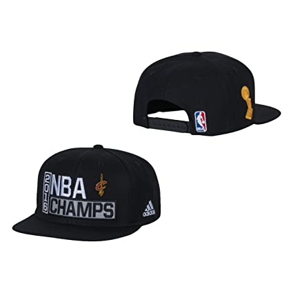 f9553886f79e8 Cleveland Cavaliers Black 2016 NBA Finals Champions Locker Room Champs  Snapback Hat   Cap
