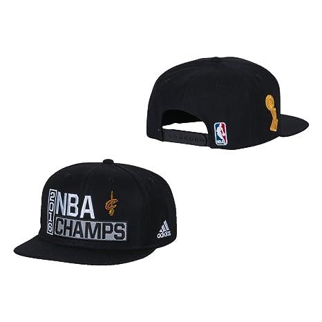 24387604dc3e7c Cleveland Cavaliers Black 2016 NBA Finals Champions Locker Room Champs  Snapback Hat / Cap